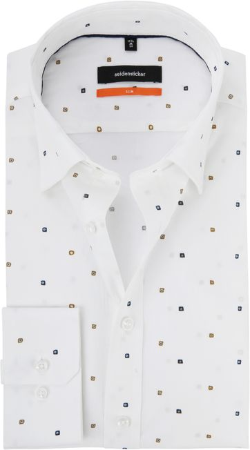 Seidensticker Shirt SF Print White