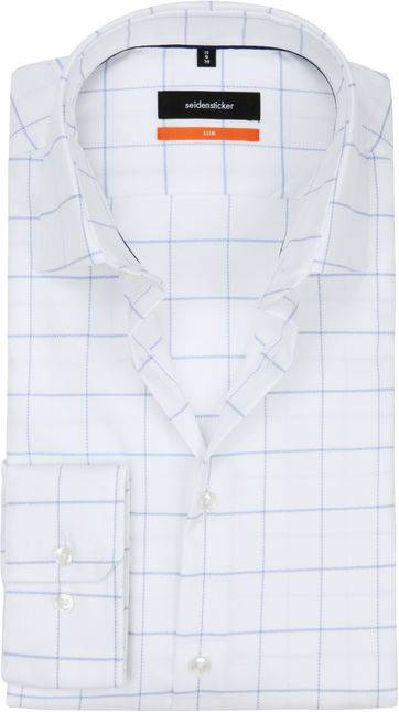 Seidensticker Shirt SF Window Pane Blue