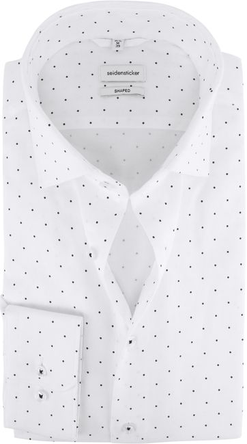 Seidensticker Shirt Shaped-Fit White Dots