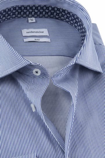 Seidensticker Shirt Stripes Blue