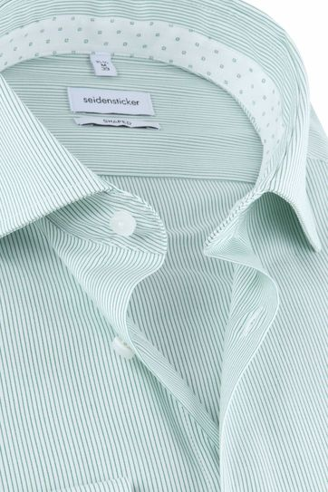 Seidensticker Shirt Stripes Green