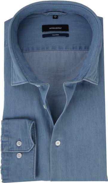 Seidensticker Shirt TF Blue