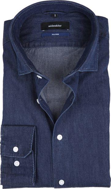 Seidensticker Shirt TF Denim Navy