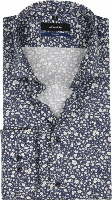 Seidensticker Shirt TF Flower Navy