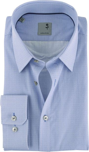 Seidensticker Slim Fit Shirt Blue Print
