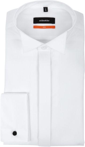 Seidensticker Smokinghemd Weiss