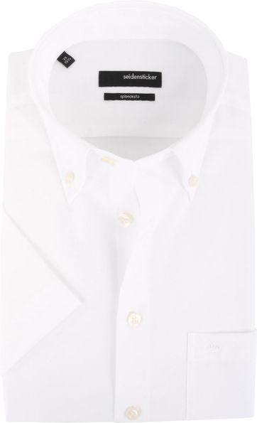 Seidensticker Splendesto Korte Mouw Overhemd Wit