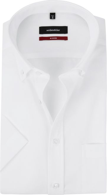 Seidensticker Splendesto Short Sleeve Shirt White