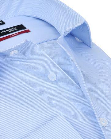 Detail Seidensticker Strijkvrij Blauw Streep Overhemd