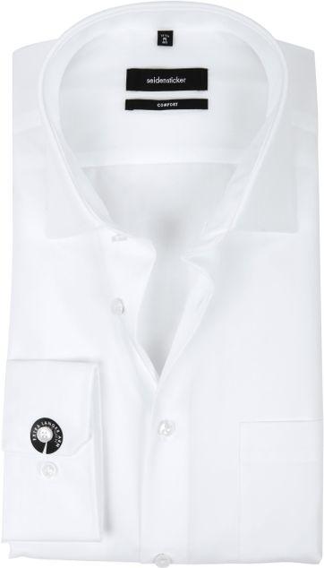Seidensticker Strijkvrij Comfort-Fit Wit S7