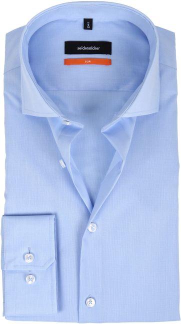 Seidensticker Strijkvrij Licht Blauw Slim-Fit