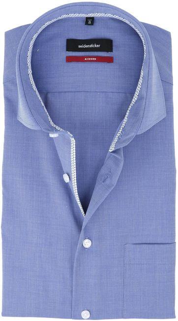 Seidensticker Strijkvrij Overhemd Blauw