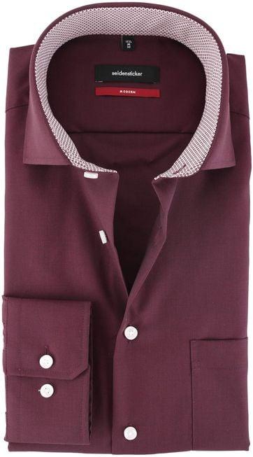 Seidensticker Strijkvrij Overhemd Bordeaux