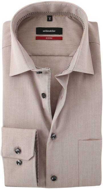 Seidensticker Strijkvrij Overhemd Bruin