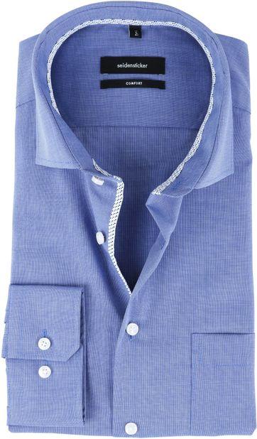 Seidensticker Strijkvrij Overhemd CF Blauw