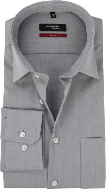 Seidensticker Strijkvrij Overhemd Grijs