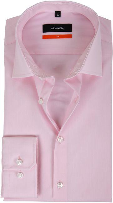 Seidensticker Strijkvrij Roze Slim-Fit