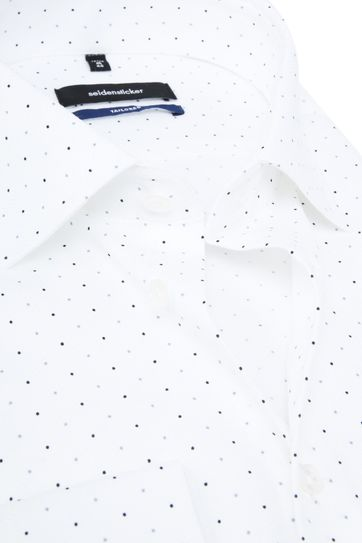 Seidensticker TF Hemd Wit Stippen