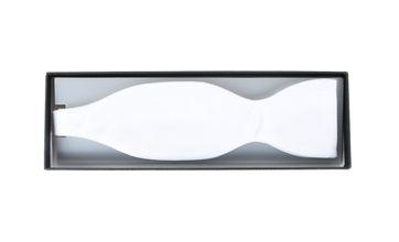 Selbstbinder Frack Fliege Weiß Piqué
