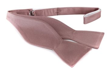 Self Tie Bow Tie Taupe F69
