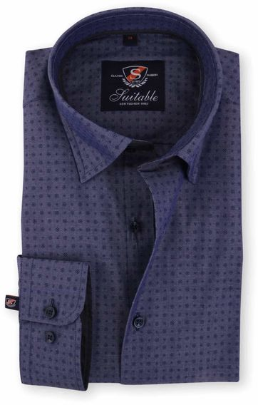 Shirt Indigo Jacquard 117-6