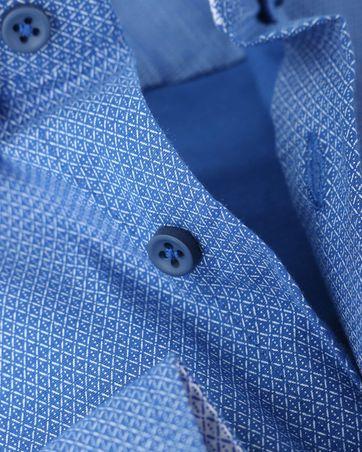 Detail Shirt Suitable S2-2 Blauw Wit Print