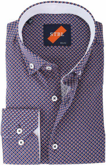 Shirt Suitable S2-4 Blau Drucken