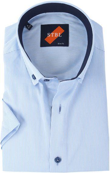 Shirt Suitable S3-5 White Blue Stripes
