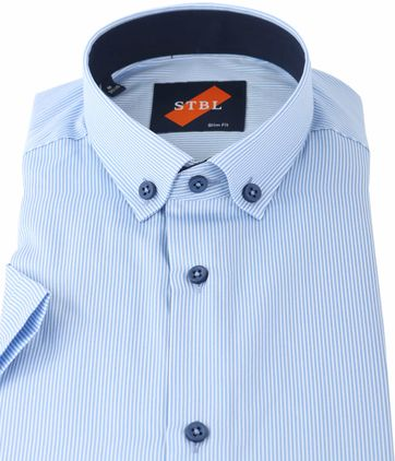 Detail Shirt Suitable S3-5 Wit Blauw Streep
