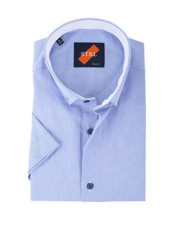 Shirt Suitable S3-6 Wit Blauw Korte Mouw