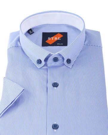 Detail Shirt Suitable S3-6 Wit Blauw Korte Mouw