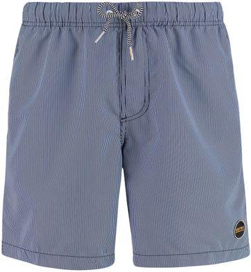 Shiwi Badeshorts Navy Mini Streifen