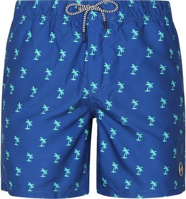 Shiwi Badeshorts Palm Blau