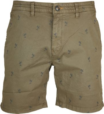 Shiwi Stretch Shorts Palmtree Green