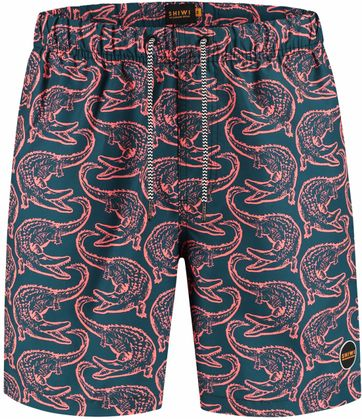 Shiwi Swimshorts Aligator Orange Navy