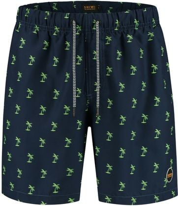 Shiwi Swimshorts Palmtrees Navy Green