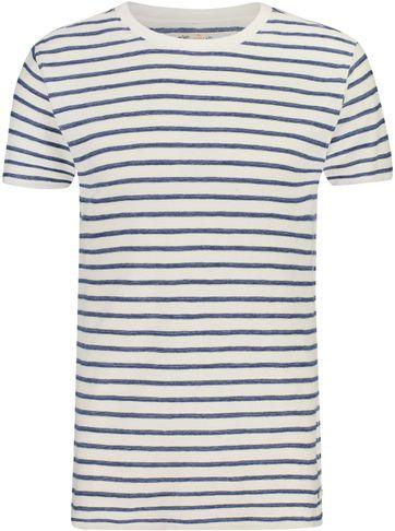 Shiwi T-Shirt Breton Strepen Blauw