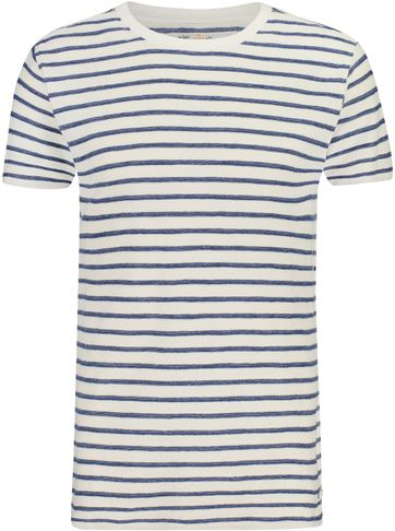 Shiwi T-Shirt Breton Stripes Blue
