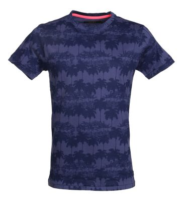 Shiwi T-Shirt Dunkeblau Palmen
