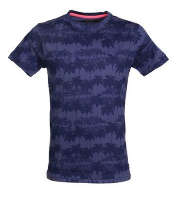 Shiwi T-Shirt Navy Palmbomen