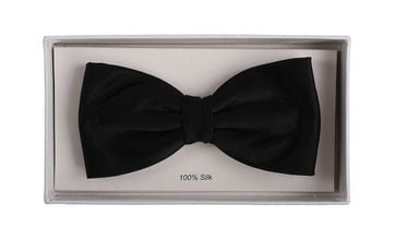 Silk Bow Tie Black F08