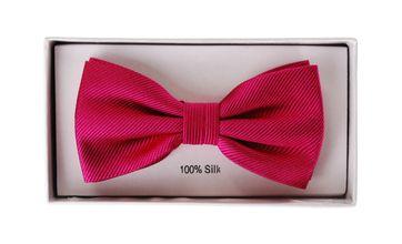 Silk Bow Tie Dark Fuchsia F66