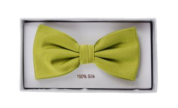 Silk Bow Tie Lime Green F04