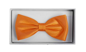 Silk Bow Tie Orange F01