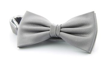 Silk Bow Tie Silver F48