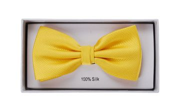 Silk Bow Tie Yellow F70