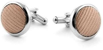 Silk Cufflinks Beige F54