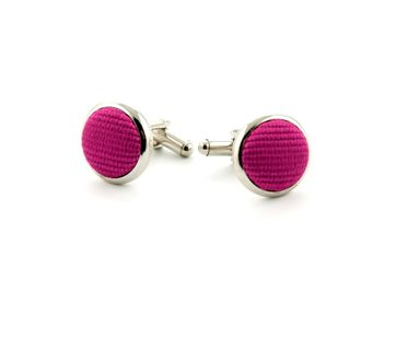 Silk Cufflinks Dark Fuchsia F66