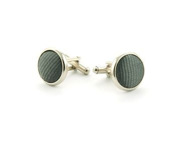 Silk Cufflinks Dark Grey F53