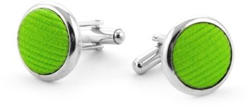 Silk Cufflinks Green F33
